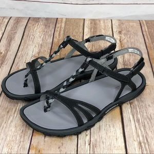 31c8c7714999 ... Merrell Black Enoki Twist Strappy Sandals NIB ...
